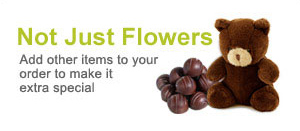 Not just flower arrangements, add chocolates and balloons to your flower order